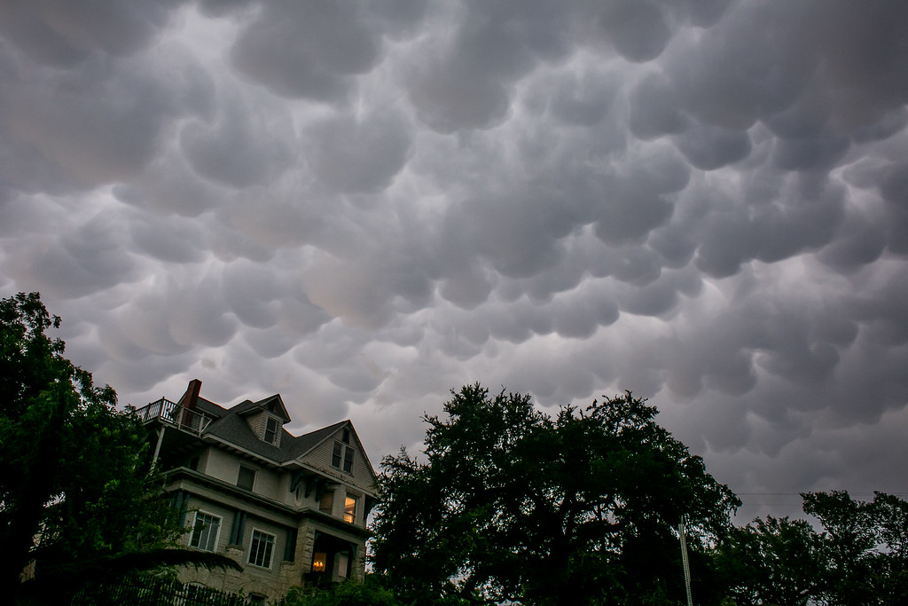 . AUSTIN, TX - MAY 25:   The sky looks ominous after days of heavy rain on May 25, 2015 in Austin, Texas. Texas Gov. Greg Abbott toured the damage zone where one person is confirmed dead and at least 12 others missing in flooding along the Rio Blanco, which reports say rose as much as 40 feet in places, caused by more than 10 inches of rain over a four-day period. The governor earlier declared a state of emergency in 24 Texas counties.  (Photo by Drew Anthony Smith/Getty Images)
