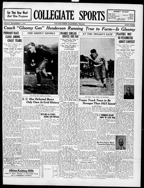 The Southern California Trojan, Vol. 15, No. 20, November 09, 1923