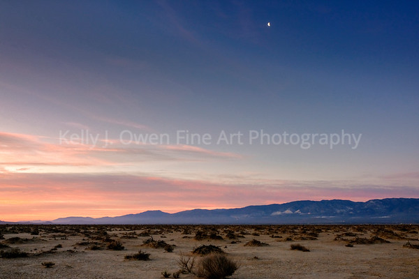 Desert Sunrise & Moon