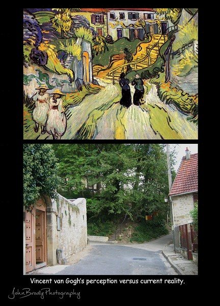 Impressionist perception compared to unchanged reality in Auvers - John Brody Photography --- JohnBrody.com