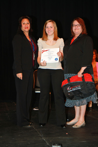 Student Leadership, Service and Volunteer Recognition dimensions service and awards ceremony; April 2012. IRS VITA Award: Andrea Monteleone