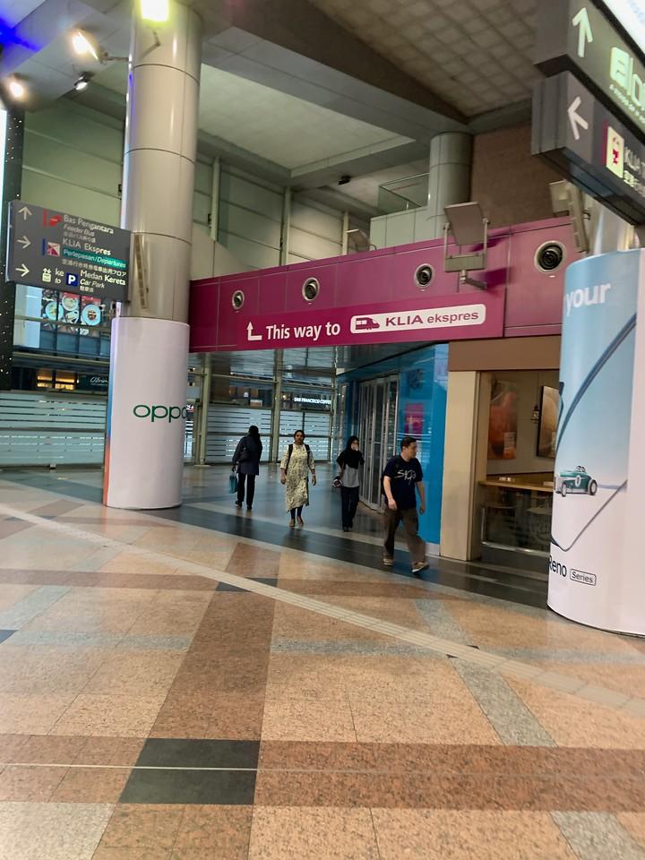 KLIA Express Train to Kuala Lumpur International Airport