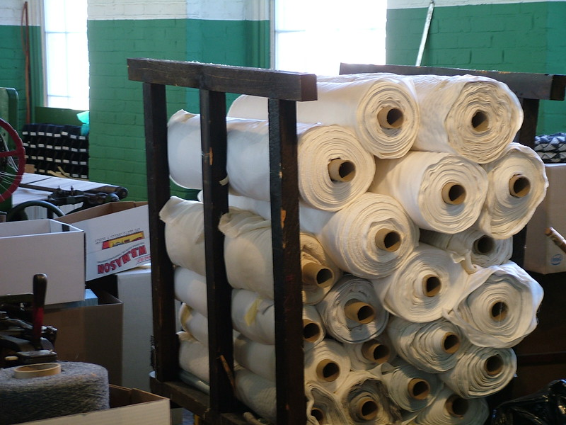 Material inside Boott Cotton Mill