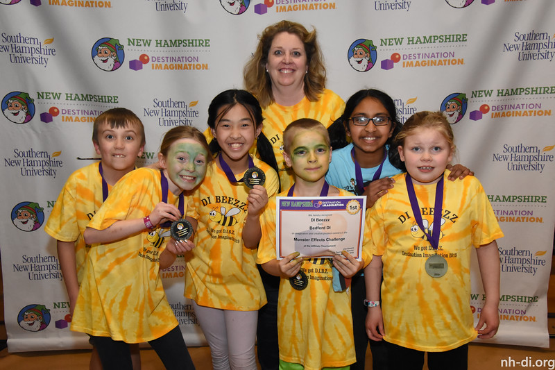 1st place. 130-05118 ,Bedford DI, DI Beezzz, Bedford, NH, Engineering Challenge- Monster Effects, Elementary Level