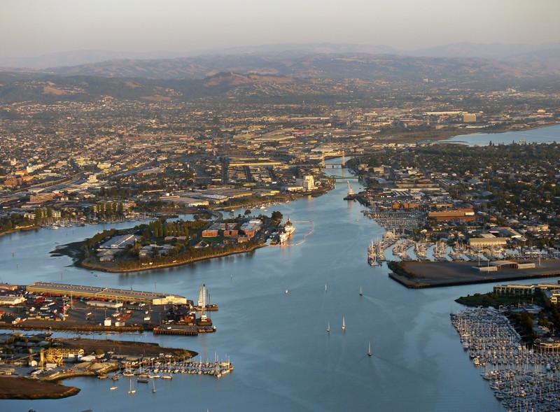 Oakland's inner harbor.
