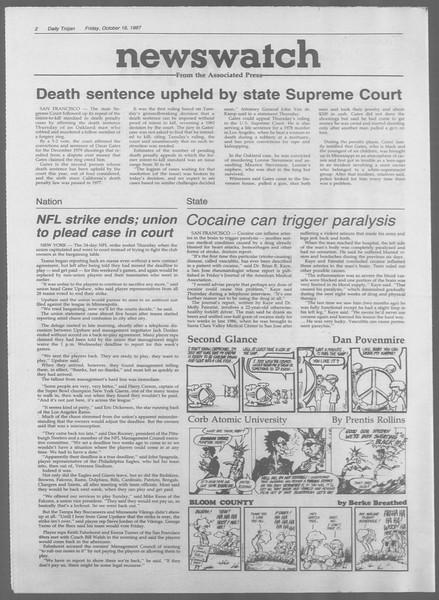 Daily Trojan, Vol. 105, No. 31, October 16, 1987