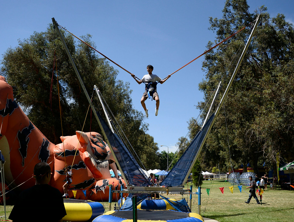 . Aug 31,2014, sylmar CA. Kids have fun with all the big toys during the 2014 Sylmar Olive Festival.  Photo by Gene Blevins/LA DailyNews
