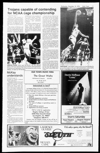Daily Trojan, Vol. 67, No. 40, November 13, 1974