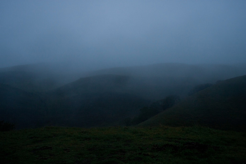 More foggy hillsides.