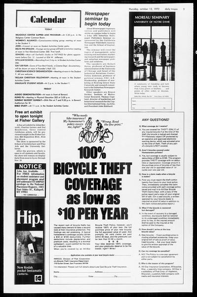 Daily Trojan, Vol. 65, No. 18, October 12, 1972