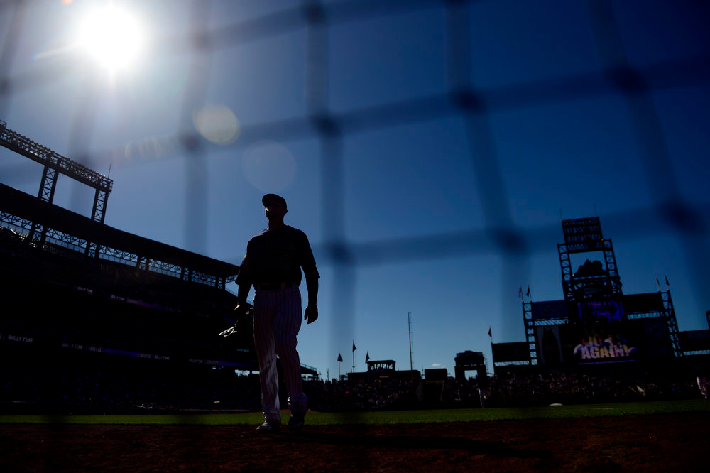 . DENVER, CO - JUNE 9: Colorado Rockies shortstop Troy Tulowitzki (2) walks off the field after the top of the ninth against the San Diego Padres during the Rockies\' 8-7 10-inning win in Denver. The Colorado Rockies hosted the San Diego Padres. (Photo by AAron Ontiveroz/The Denver Post)