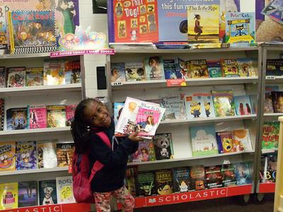 Lauryn at the School Book Fair