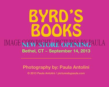 BYRD'S BOOKS New Store Opening ~ Bethel, CT ~ September 14, 2013