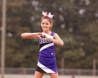 Weaver Senior Cheer at Swift Creek 10-14-17