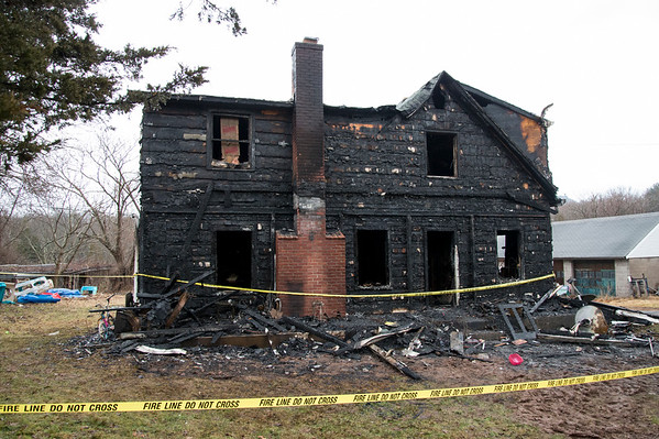 02/10/20 Wesley Bunnell   Staffrr960 East Johnson Ave. in Southington where an overnight fire occurred into the early hours of Monday morning. A view of the front of the home.