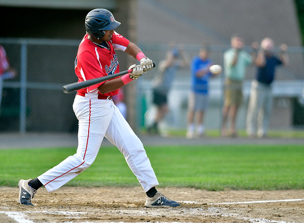 7/31/2019 Mike Orazzi | Staff Southington's Aneesh Avancha (13) during Tuesday evenings American Legion Baseball game with Waterford in South Windsor.
