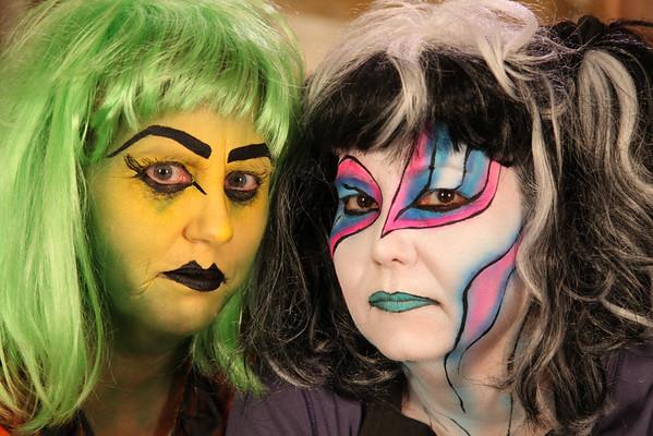 Sheryl Straub created cool make up and extraordinary art