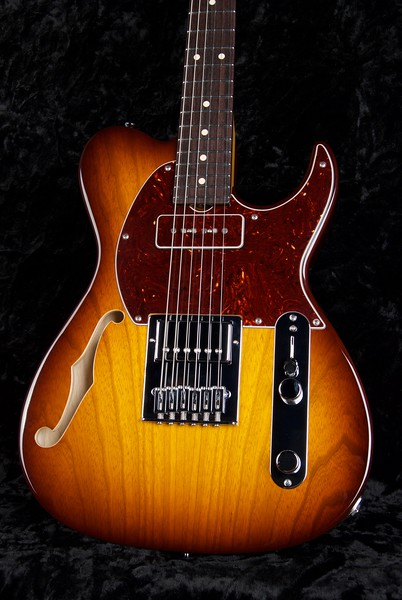 NOS Retro Classic Hollow T #3693, Tobacco Burst, Grosh ES/H Pickups
