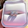 1.70ctw Old European Cut Diamond Clover Stud Earrings, GIA H-I SI 6