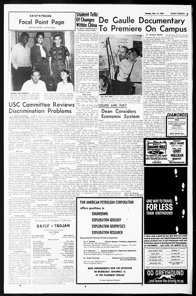 Daily Trojan, Vol. 55, No. 35, November 11, 1963
