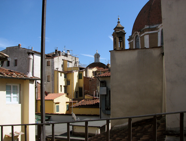 The Globus, our hotel in Florence. We loved it. The view from our room.