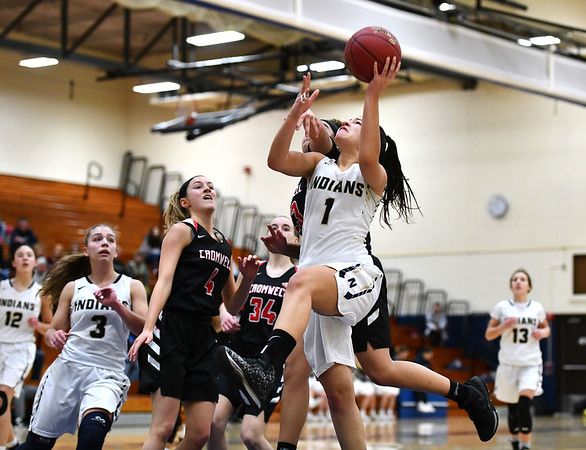 2/8/2020 Mike Orazzi | StaffrNewington's Sabrina Soler (1) on Saturday morning in Newington.