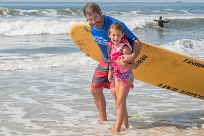 Mark and Maggie Surfing Long Beach 2018