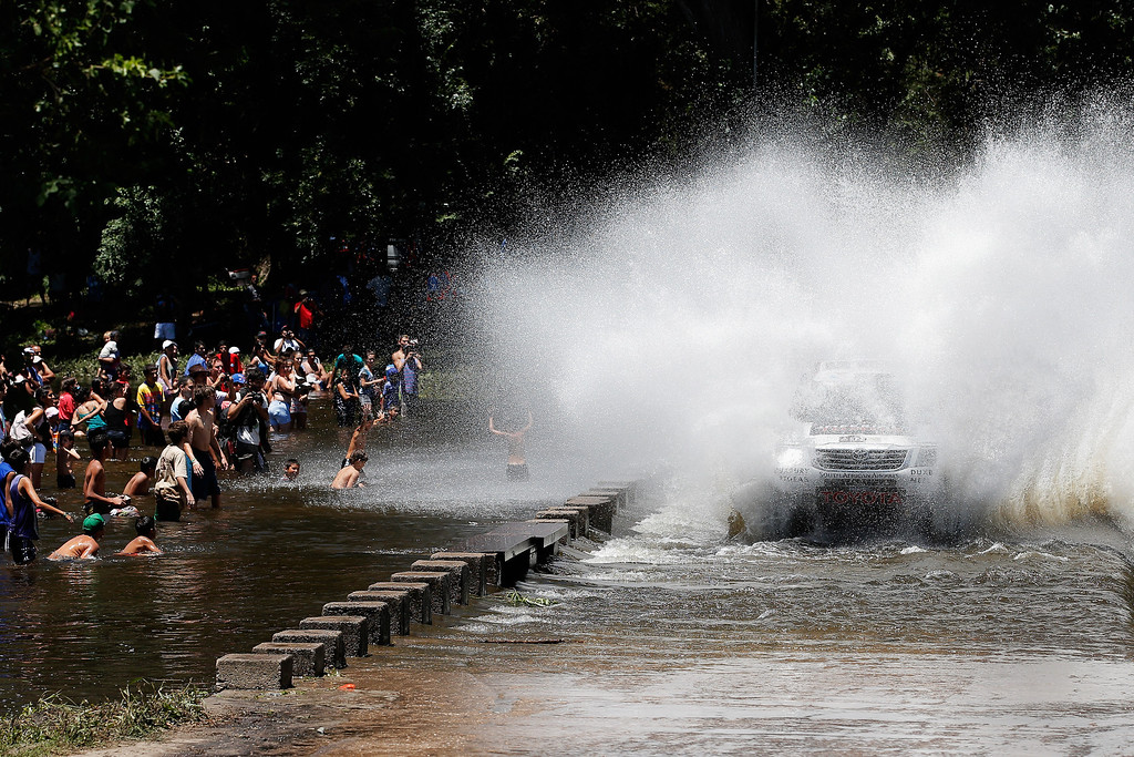 . Leeroy Poulter and Robert Howie of South Africa for Imperial Toyota competes on Day 1 of the Dakar Rally 2014 on January 5, 2014 in Santa Rosa de Calamuchita, Argentina.  (Photo by Dean Mouhtaropoulos/Getty Images)