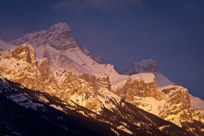 """Rundle Peaks"" II, Bow Valley, Alberta, Canada."