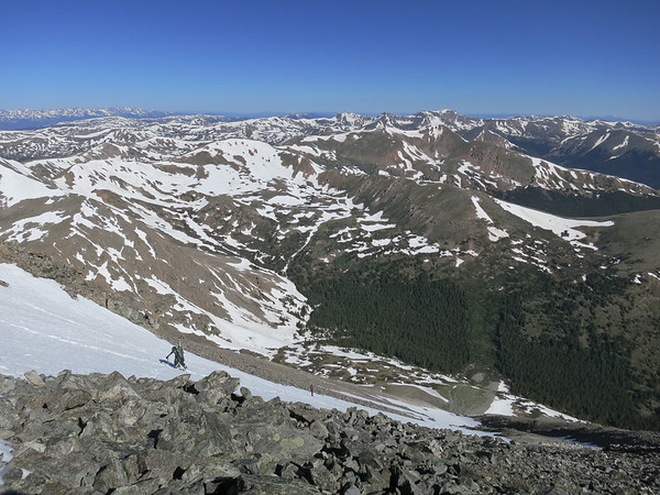 Skiing Torrey's Peak 6/24/17