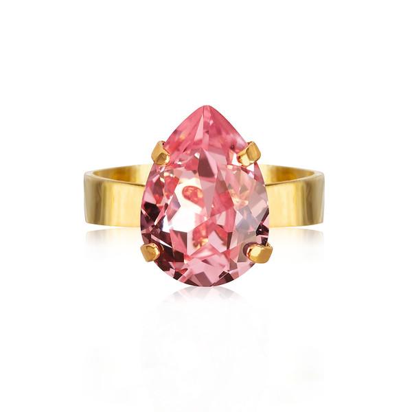 Mini Drop Ring / Light Rose