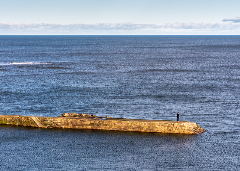 Cullercoats harbour wall