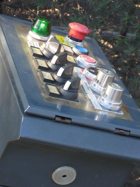 A ride control panel.