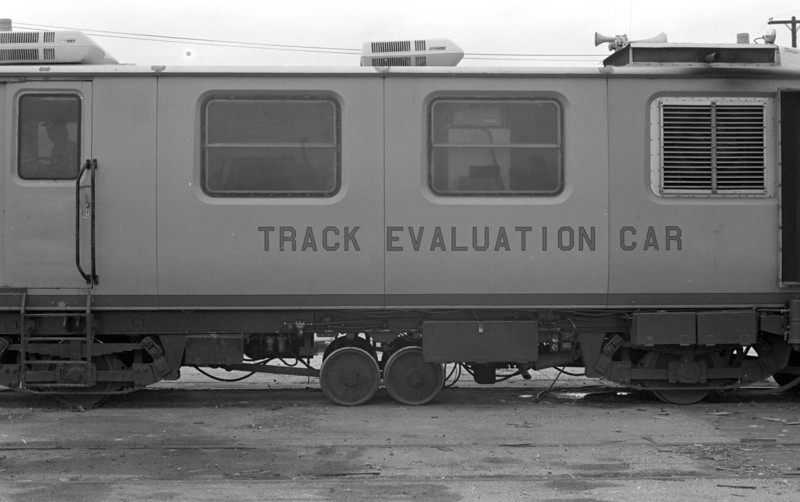 UP Track Geometry Car EC-3. April 23, 1983.  <i>(Don Strack Photo)</i>