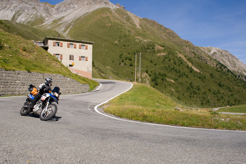 """Umbrail pass"" on Stelvio's swiss backside"