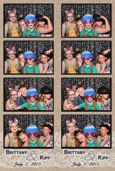 Brittany + Kipp = Swanky Photobooth