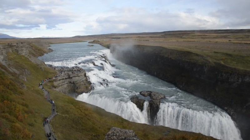 Gullfoss in action