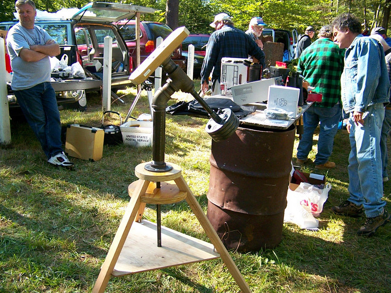An old fashion pipe mount. It held a 6 inch refractor! This mounting was considered surplus noww and could have been had for almost anything.