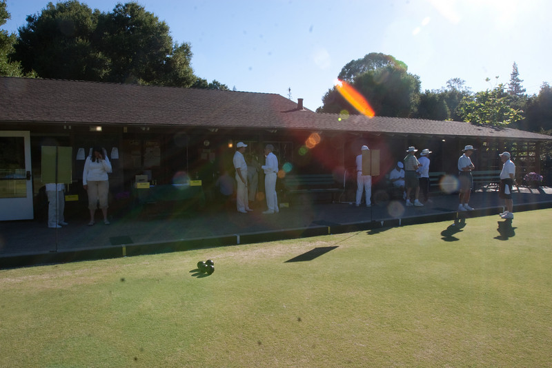 It was a lovely evening at the Palo Alto Lawn Bowls Club.