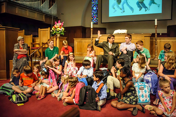 Blessing of the Backpacks 8-18-2013