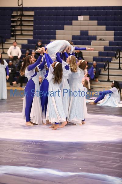 Cleveland Arts Varsity Middle School Winterguard