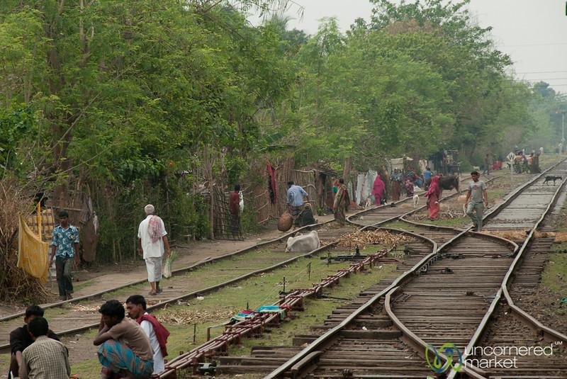 Life Along Railway Tracks - Khulna to Rajshahi, Bangladesh
