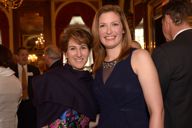 Honoree Stacy Schiff with Co-Host Mary Tedesco
