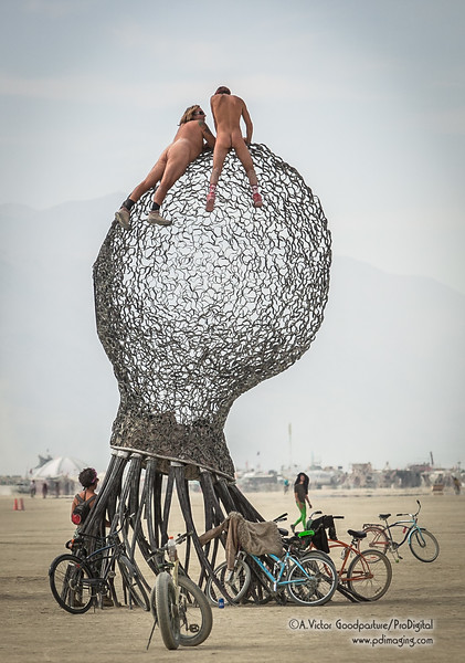 Actually, a double moon is not unusual at Burning Man.