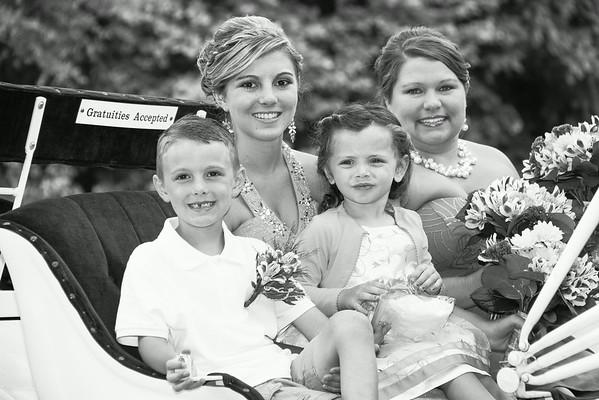 The Bridal Carriage - Black & White