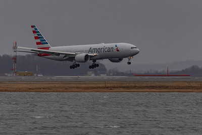 Logan Airport Rainy 33L Arrivals