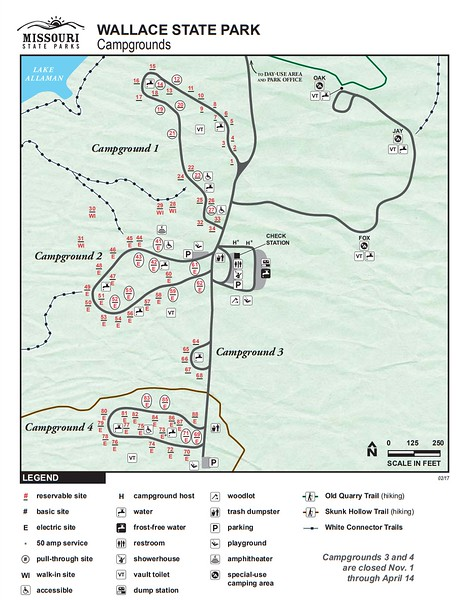 Wallace State Park (Campground Maps)