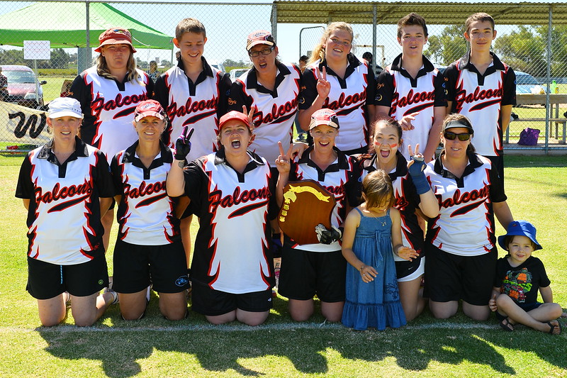 "RIVERLAND SOFTBALL 2014/2015 ""C"" GRADE PREMIERSHIP TEAM, WAIKERIE"