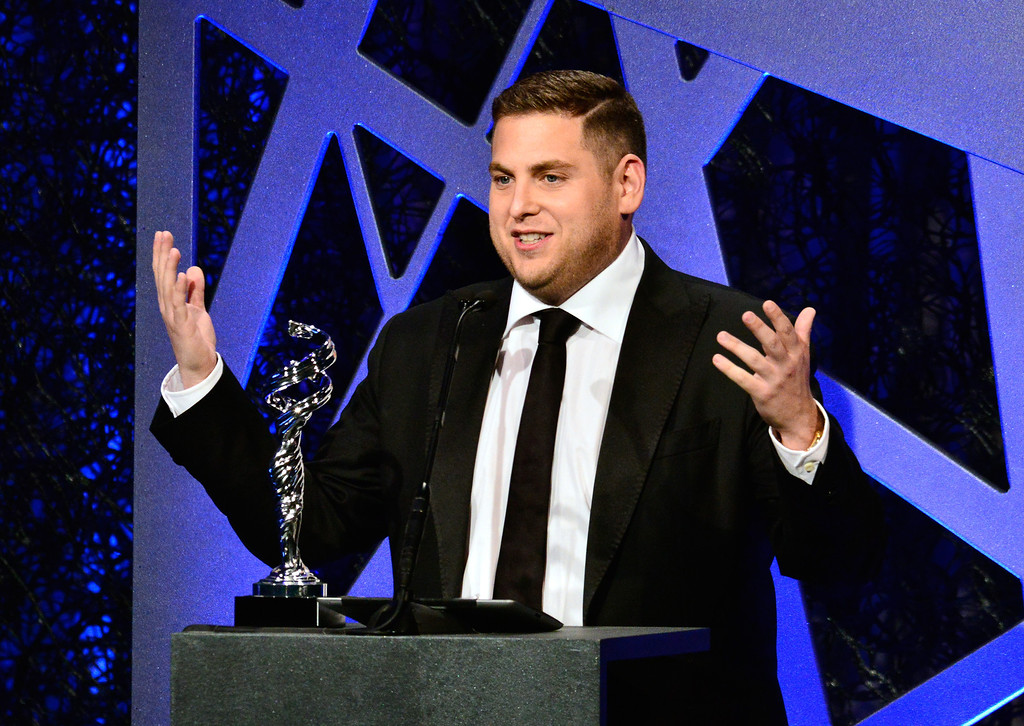 ". 2014 Academy Award Nominee for Best Actor in a Supporting Role: Jonah Hill in ""The Wolf of Wallstreet.\"" (Photo by Jerod Harris/Getty Images)"