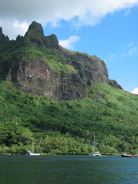 ADAGIO at anchor in Cook Bay, Moorea, French Polynesia
